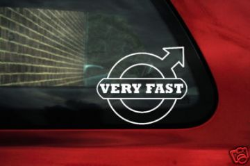 'Very fast' volvo logo sticker,for volvo C70,s40,s60,v40,v70,T5,850 R, Turbo